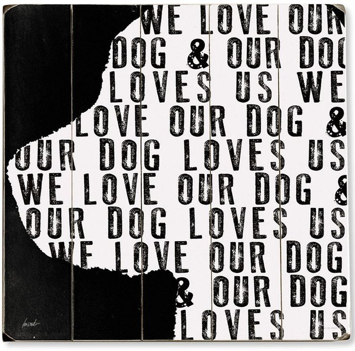 Artehouse We Love Our Dogs Wall Art