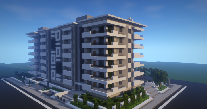 Modern Apartment Building #3 Minecraft Project | Minecraft ...