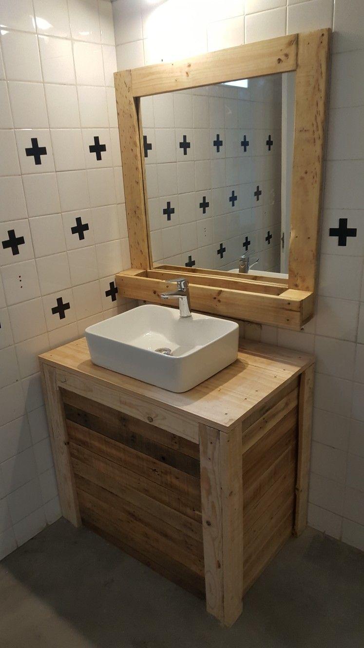 Meuble En Palette Salle De Bain meuble en palette pour la salle de bain. | meuble palette