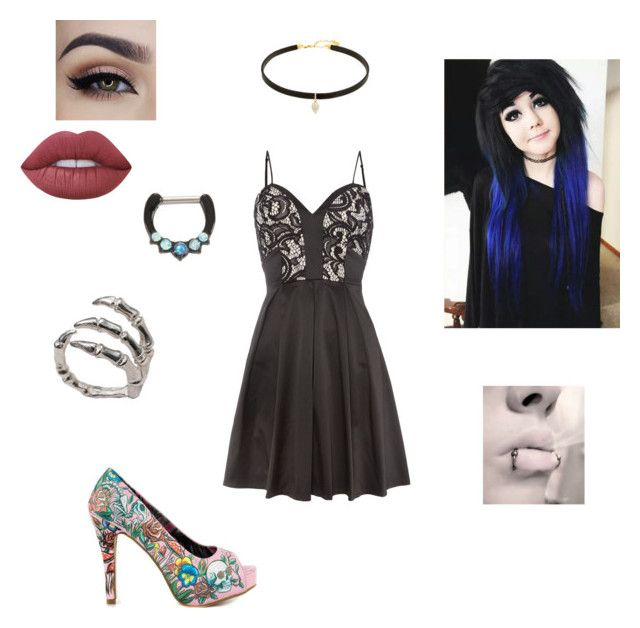 """Untitled #192"" by akwardpotato on Polyvore featuring Lime Crime, Iron Fist, Lipsy and Bernard Delettrez"
