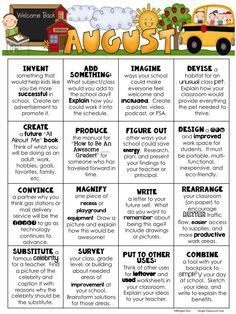 FREE Early Finishers August Choice Board - Great for middle elementary students!