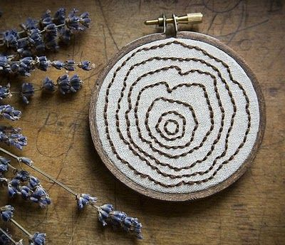 Needle Point Tree Rings