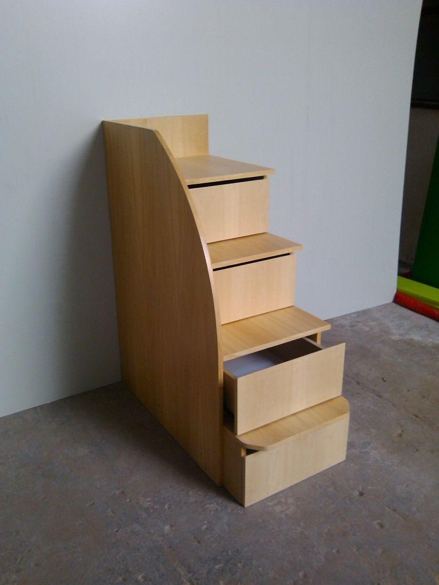 Escalera cajonera de 4 cajones anada a su mueble carcoop for Closet con escalera