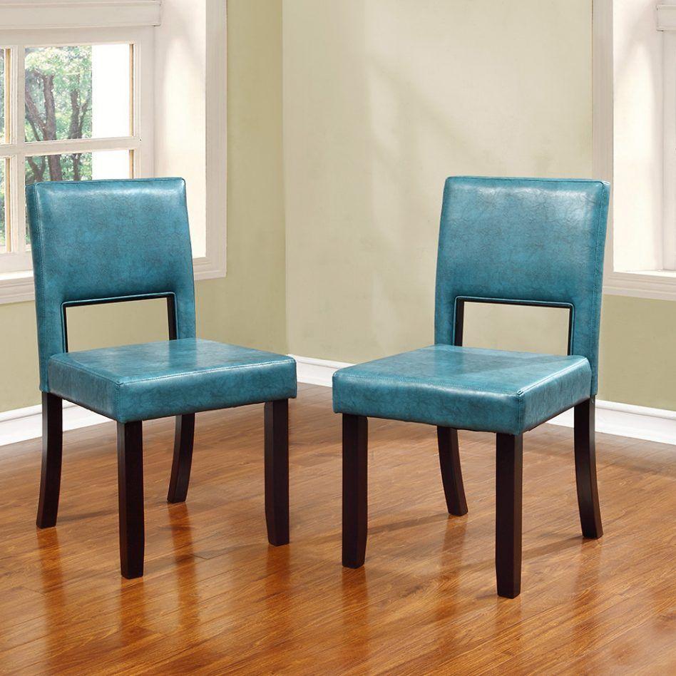 Blaues Leder Esszimmer Stühle Esszimmerstühle