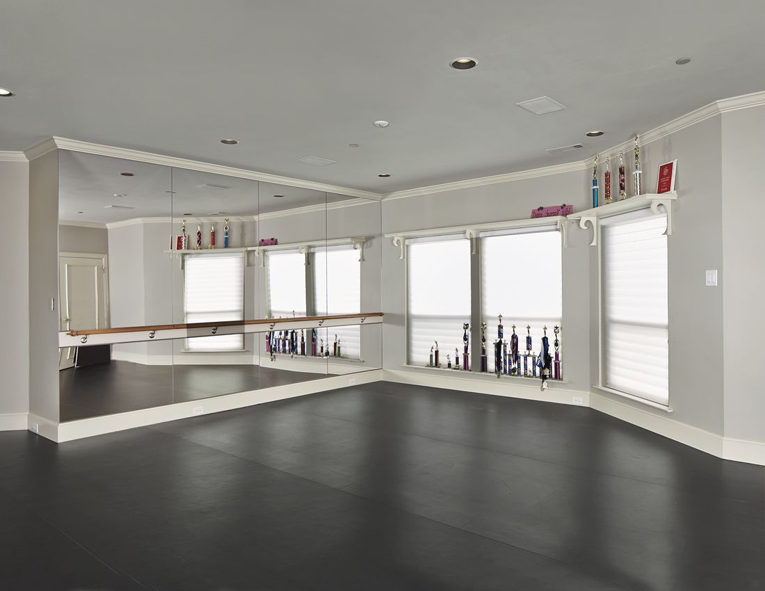 Dance Studio Converted From Gameroom Home Dance Home Dance Studio Dance Rooms