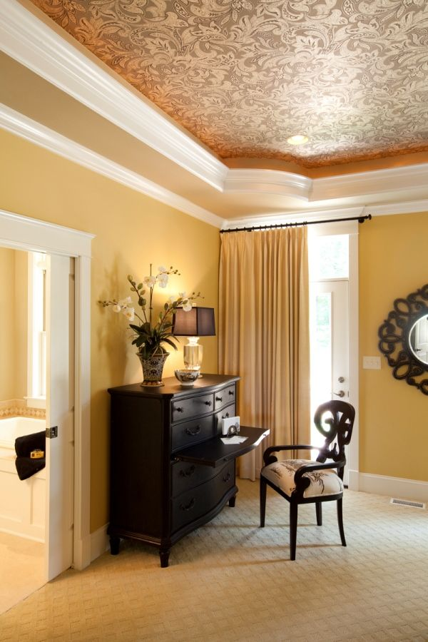 Master Bedroom With A Tray Ceiling Crown Molding