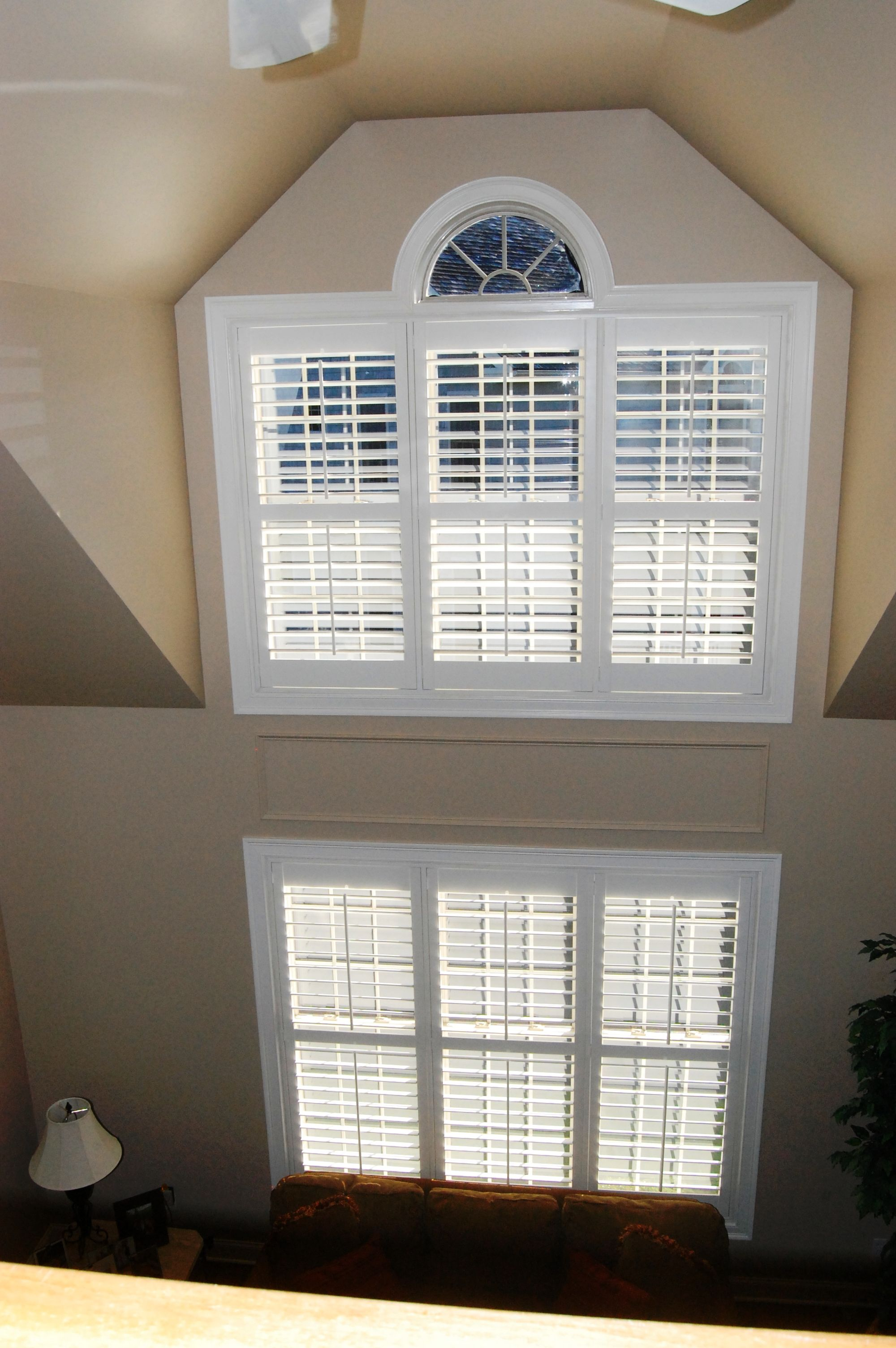 Two Story Family Room Plantationshutters Shutters New