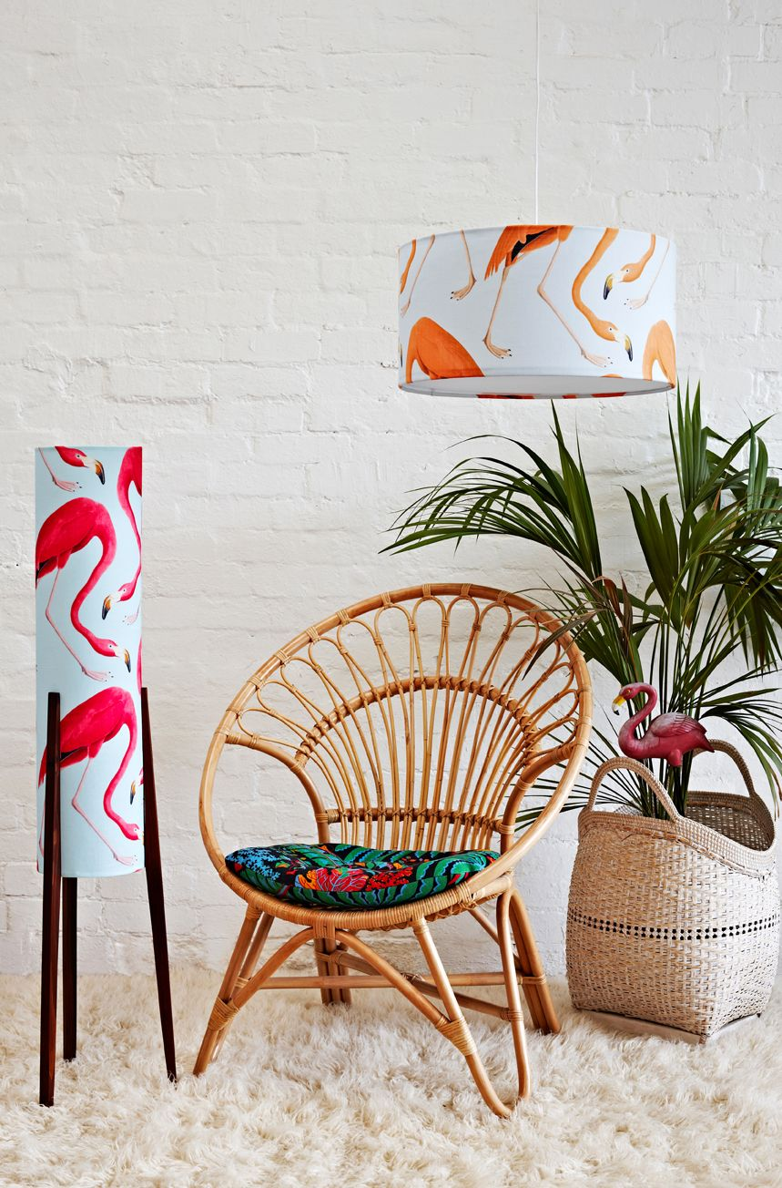Retro Print Revival – Pendant lampshade • See more at The Big ...