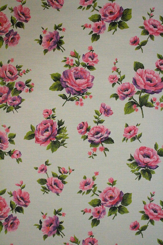 Vintage Floral Wallpaper With Roses Vintage Wallpapers Vintage Floral Wallpapers Floral Wallpaper Wallpapers Vintage