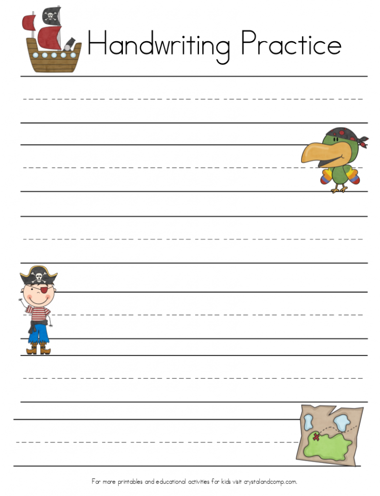 Handwriting Practice For Kids Pirate Printables Kids Handwriting Practice Handwriting Practice Pirate Vocabulary [ 1024 x 785 Pixel ]