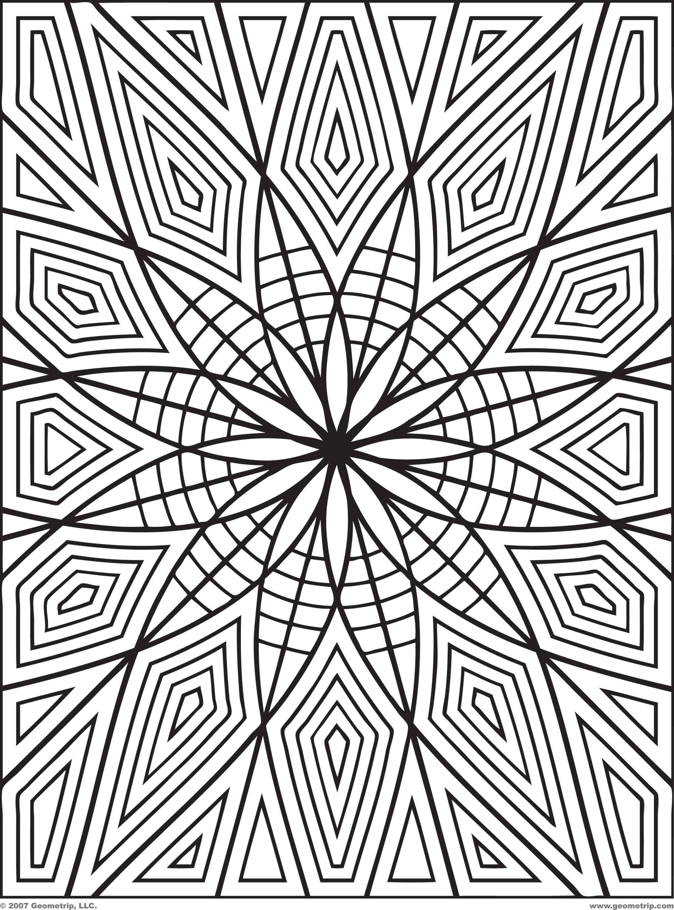 Geometric Design Coloring Pages  geometric coloring pages pdf pic