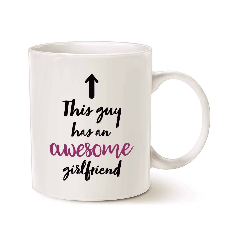 Funny boyfriend coffee mug gift this guy has an awesome
