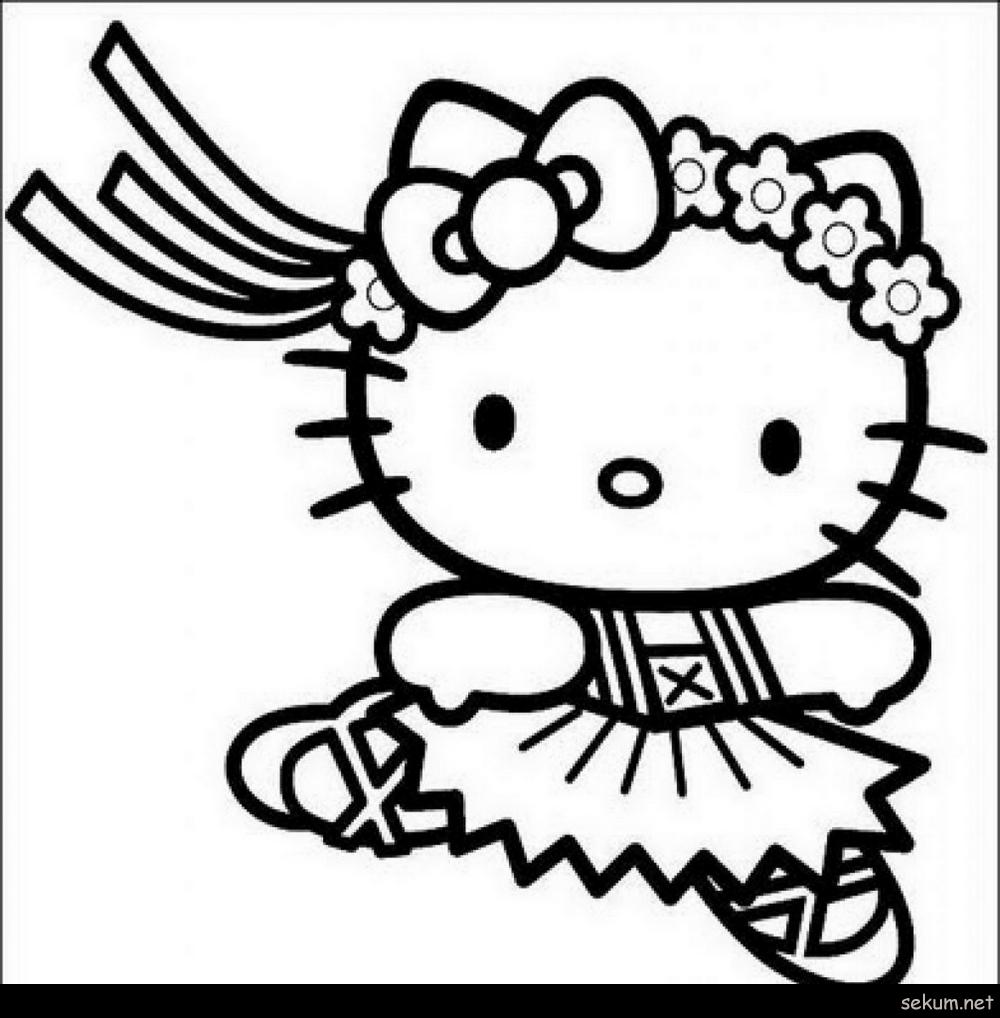 Printable Hello Kitty Colouring Images Mypic Asia Kartun Warna Gambar