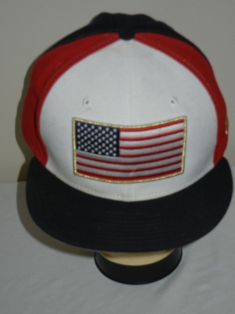 United States USA flag baseball hat cap fitted size 8 New Era patriotic   NewEra  BaseballCap 0026eb10c8c