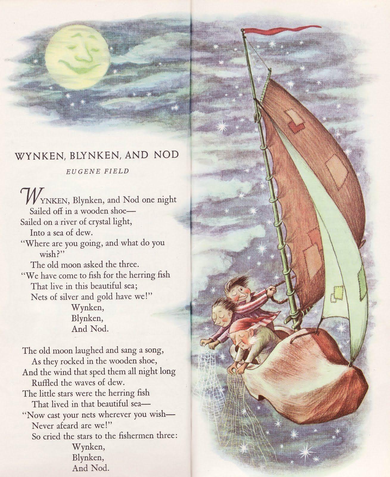wynken blynken and nod poem pdf