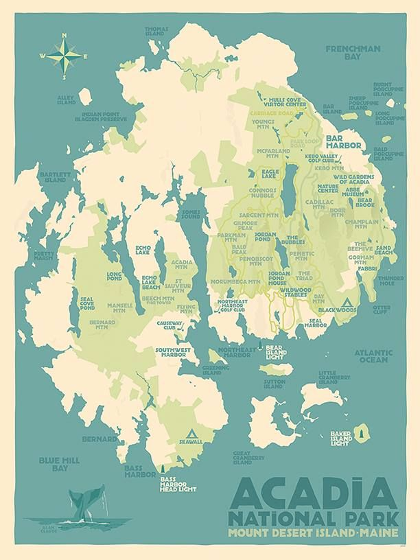 1930s works progress administration posters promoting national parks 1930s works progress administration posters promoting national parks and public lands mount desert island map gumiabroncs Image collections