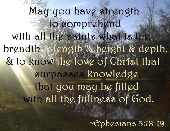 Image result for ephesians 3 18-19