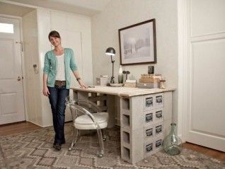 And The Old School Cinder Block Desk Diy Video Three Ways To