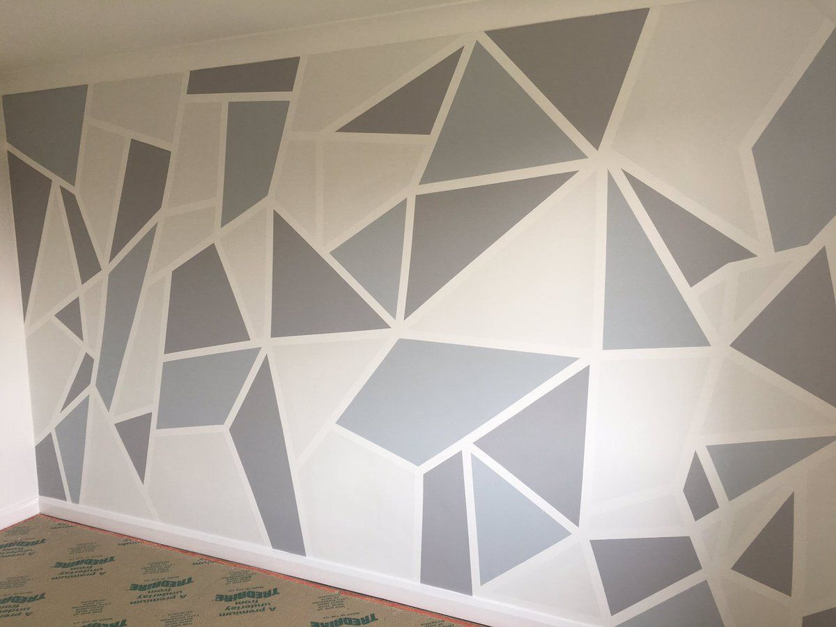Pin By Jeff Grant On Geometric Walls Wall Paint Designs Wall Painting Stencils Wall