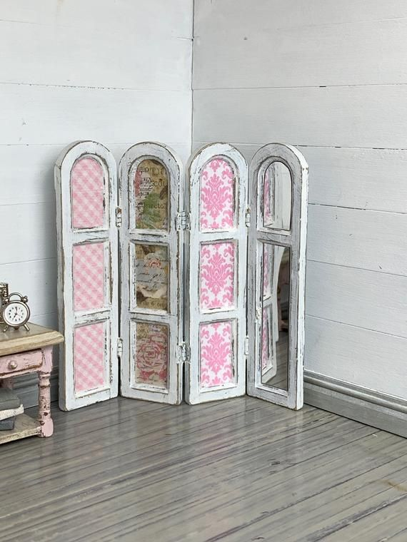 Miniature Screen, Dollhouse Screen, Dollhouse Furniture, Miniature Furniture, Modern Dollhouse Furniture, Miniature Bedroom, Dollhouse