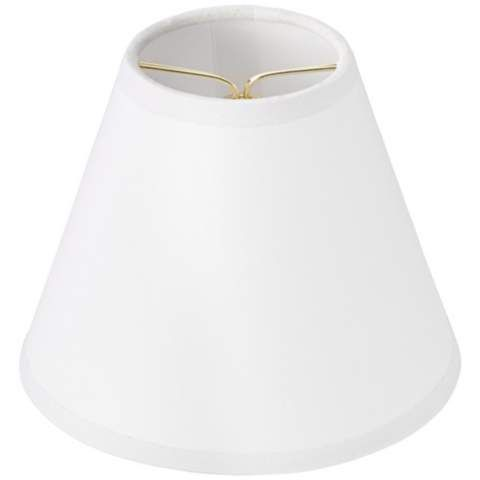 Kathy Ireland Set Of 6 White Paper Shades 3x6x4 5 Clip On 4r861 Lamps Plus White Lamp Shade White Lamp Lamp