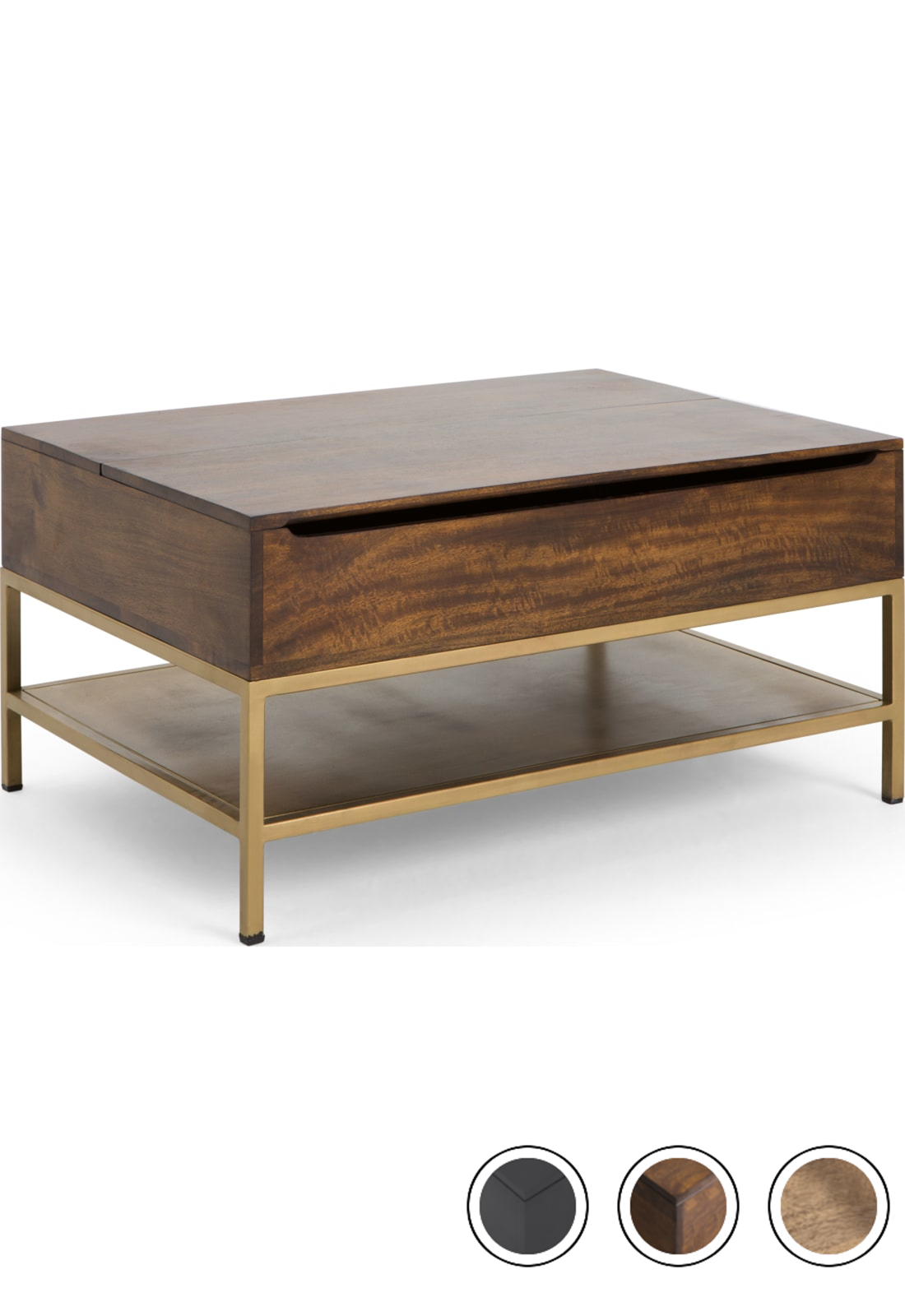 Made Lift Top Coffee Table With Storage Mango Wood Brass Lomond Coffee Tables Collection From Made Com Coffee Table Lift Top Coffee Table Coffee Table Wood [ 1600 x 1100 Pixel ]