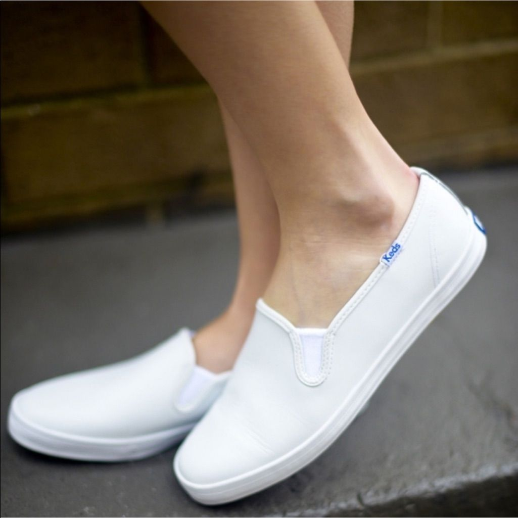 Keds Leather Slip On Sneakers. Size 8.5
