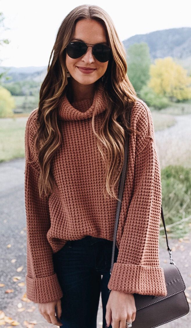 fall outfits women\u0027s brown sweater