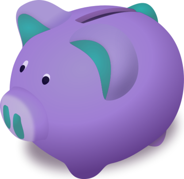 purple piggy banks | piggy bank Vector Clip Art | Piggy Banks ...