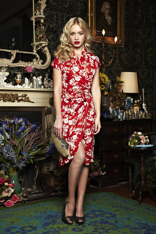 Uttam Fashion Online Deanna Drapey Wrap Dress - Womens Knee Length ...