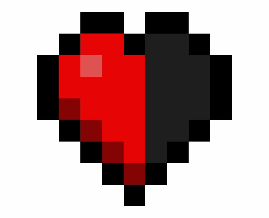 Minecraft Kalp Png Minecraft Half Heart Transparent Png Image For Free Download Explore More High Quality Free Png Images On Trzcacak Rs Kalp