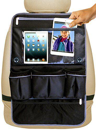 Car Backseat Organizer Kick Mat For Baby Travel Accessories Kids Toy Storage