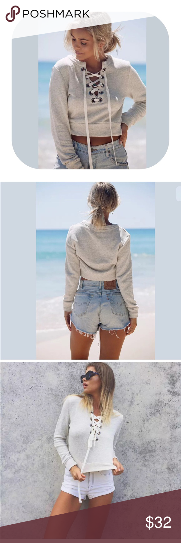🎉comingsoon🎉 tie up long sleeve crop hoodie top Brand new with tag. Get 15% off when you buy two or more. It will be coming in in around 2 weeks. If you would like to get notified, simply press like or leave me a message. I will let you know. Tops Tees - Long Sleeve