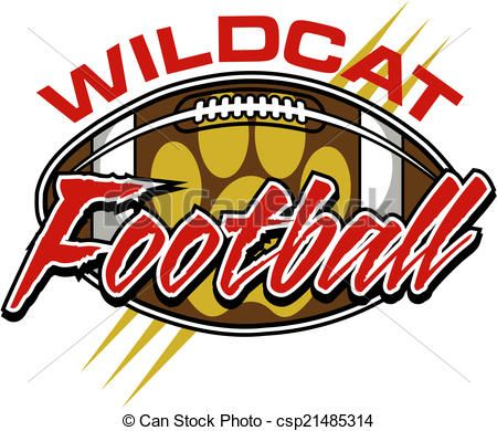vector wildcat football design with ball stock illustration rh pinterest com Wildcat Claw Clip Art Arizona Wildcats Clip Art