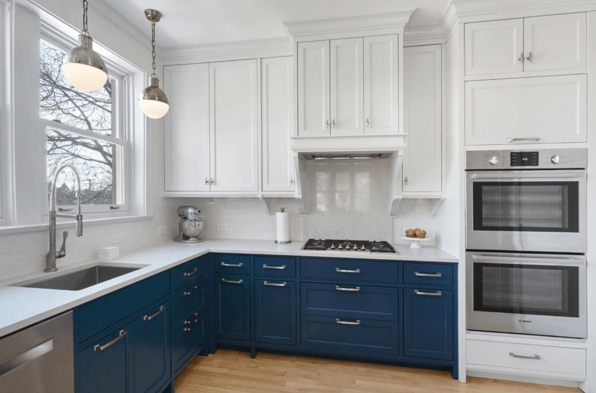 Dual-Tone Navy and White Cabinets   Kitchen   Pinterest   White ...