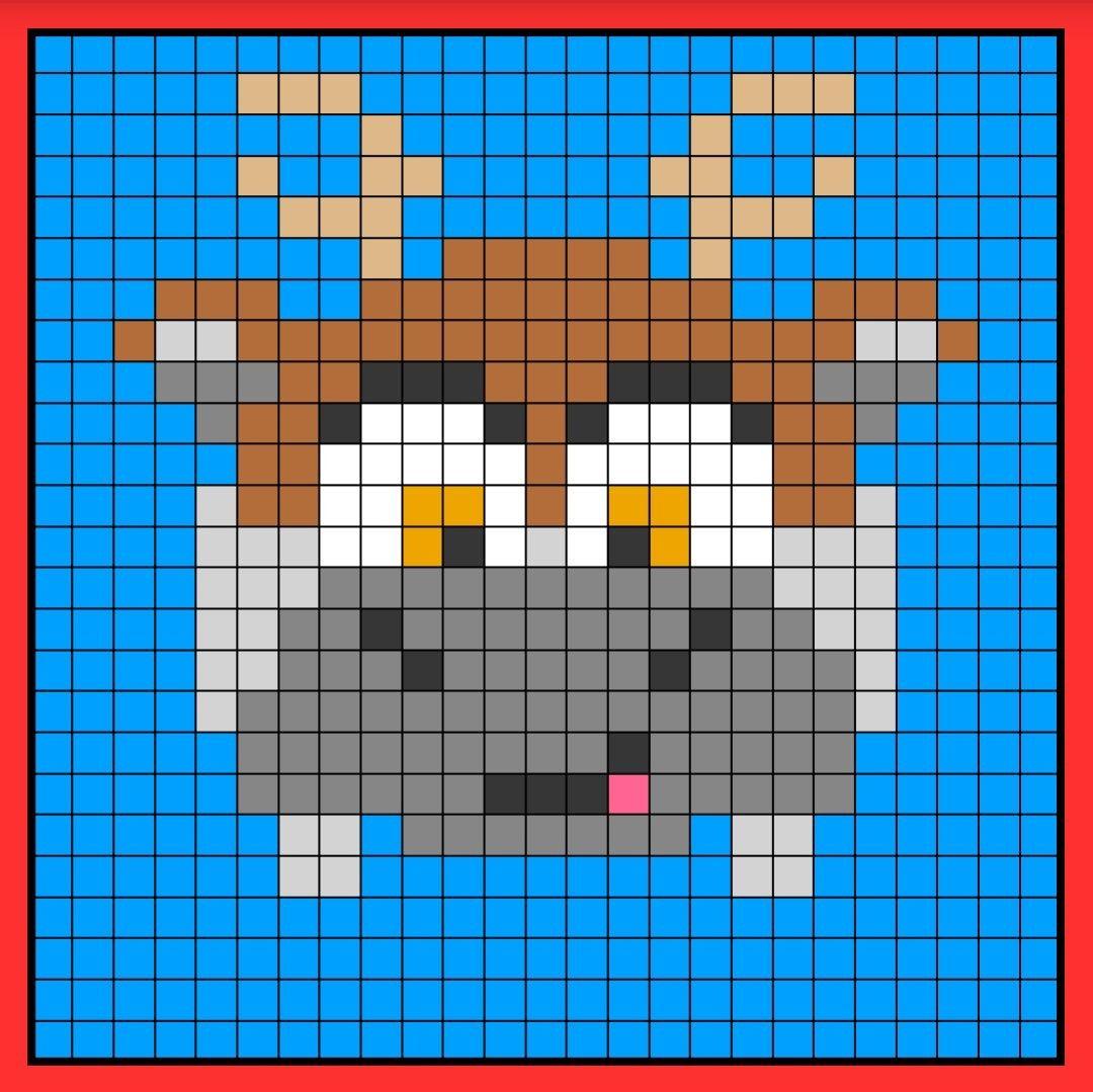 Sven Tsum Tsum Perler Hama Bead Pattern Crochet C2c Frozen