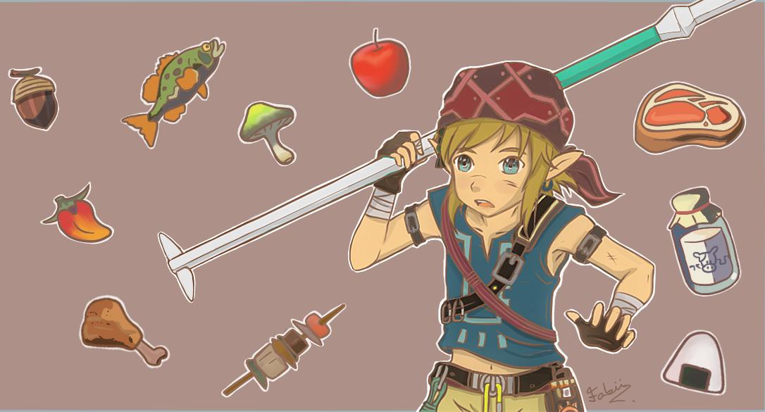 Link Cooking #food The Legend of Zelda Breath of the Wild