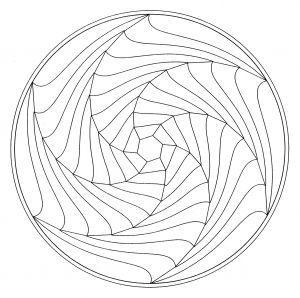 Display Image Coloring Page Mandala Optical Illusion