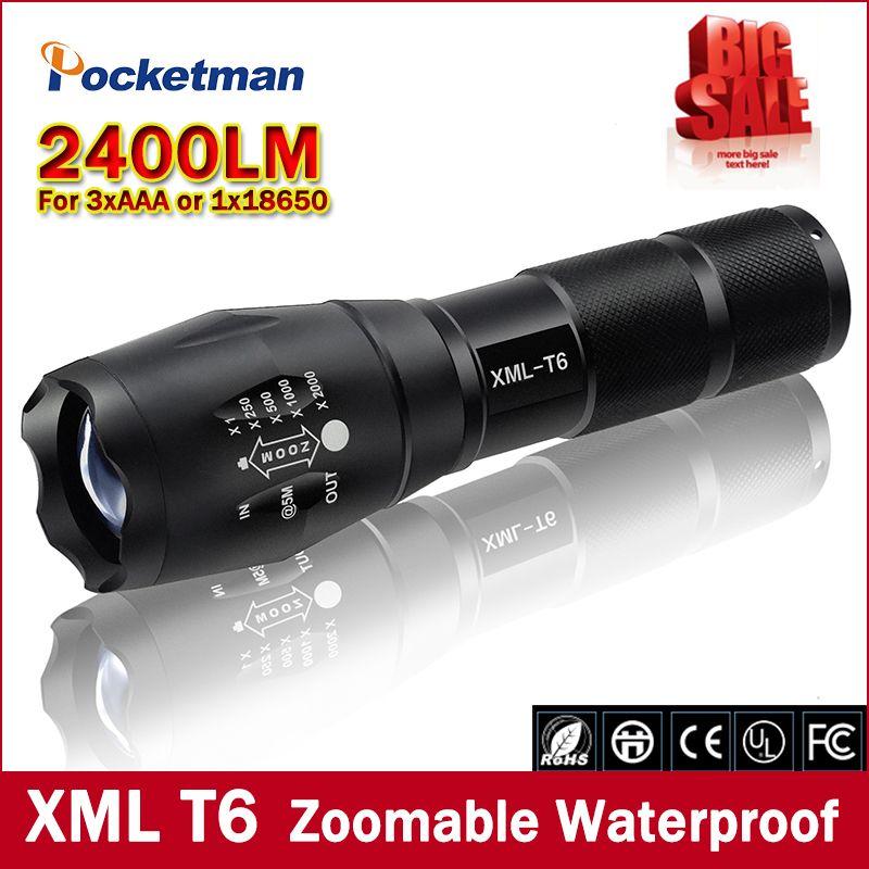 Ultrafire 10000 LM zoomable  X-XML T6 lampe de poche LED 18650 lampe torche