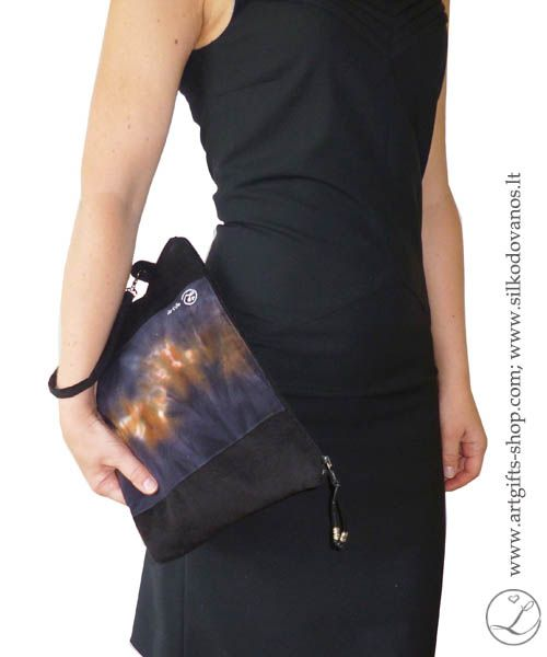 hand-painted-silk-clutch-purse-bag-black-5