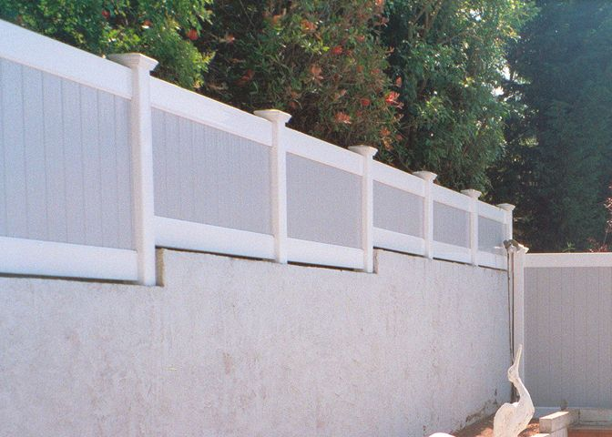 Solid Privacy Wall Extension Lawndale Ca Fence Design Vinyl Fence Modern Fence