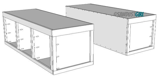 Queen platform bed with storage kristy collection diy - Best platform beds with storage ...