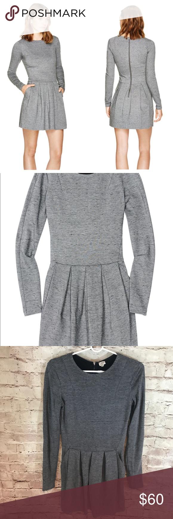 Wilfred artizia tartine long sleeve back zip dress