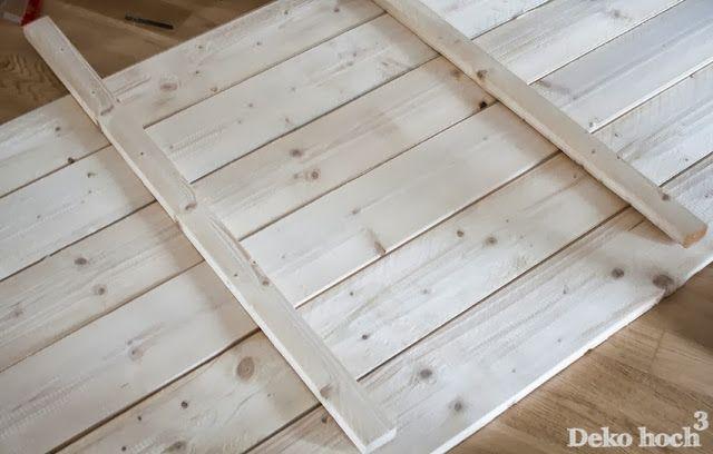 DIY Bettrückwand aus Holz (mit Bildern) Bettrückwand