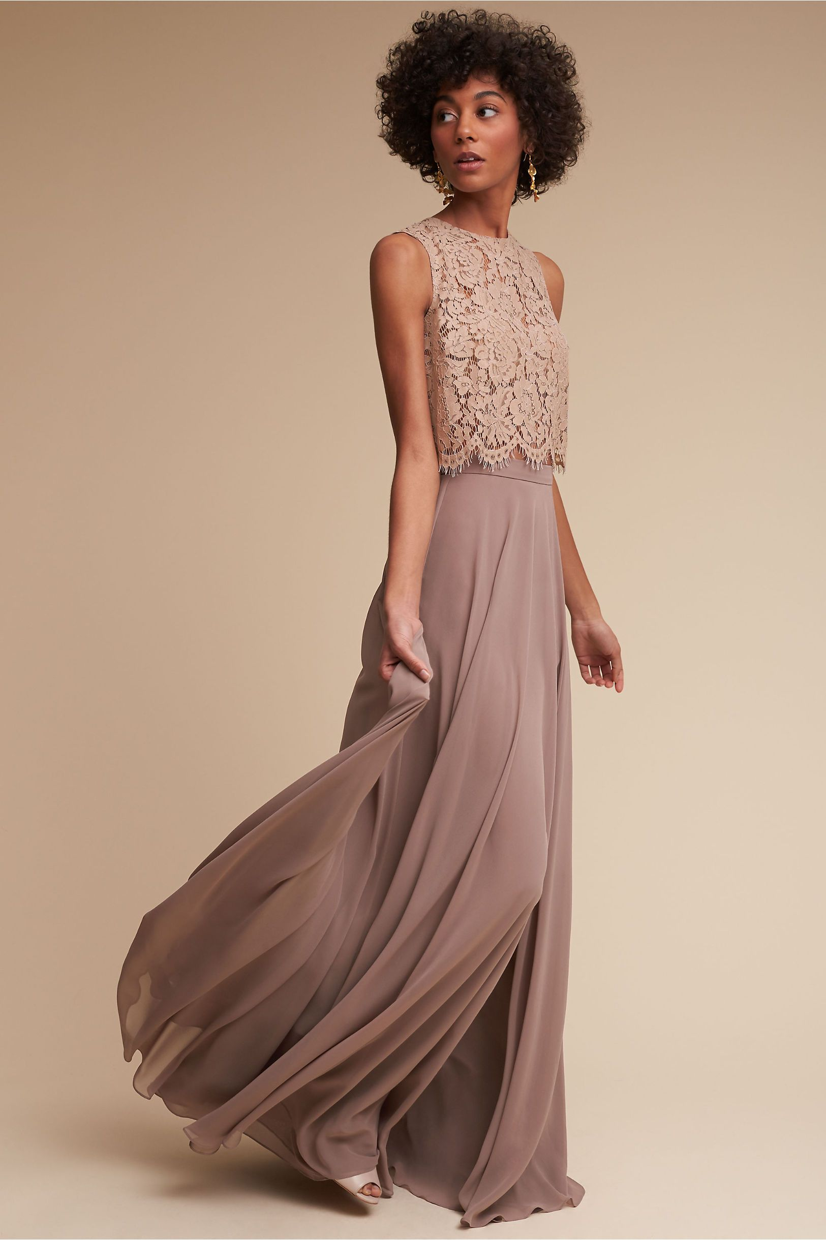 bhldn hampton skirt morning mist in bridal party | bhldn