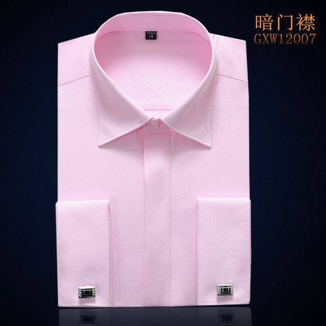 French Cuff Dress Shirt Long Sleeve Men Clothes Men Striped Shirt Slim Fit Brand Cotton Imported Clothing Cufflinks