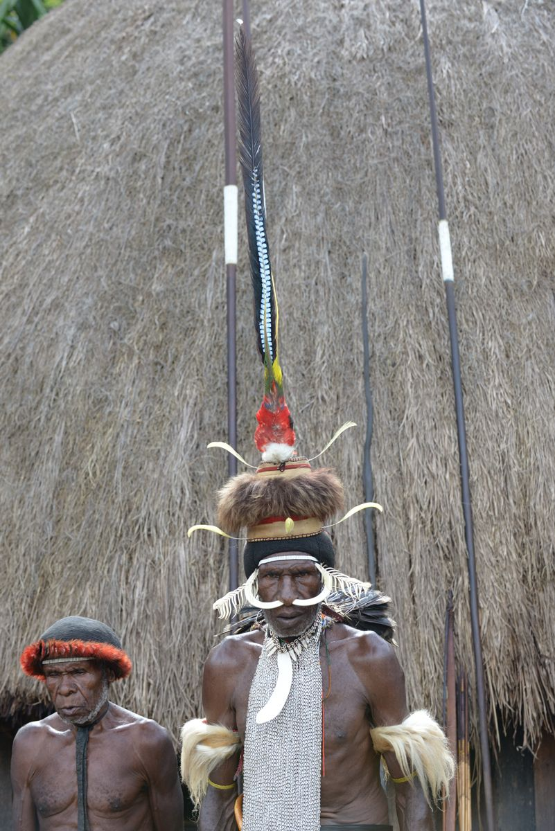 Dani tribe chief. Wamena, Papua, Indonesia.