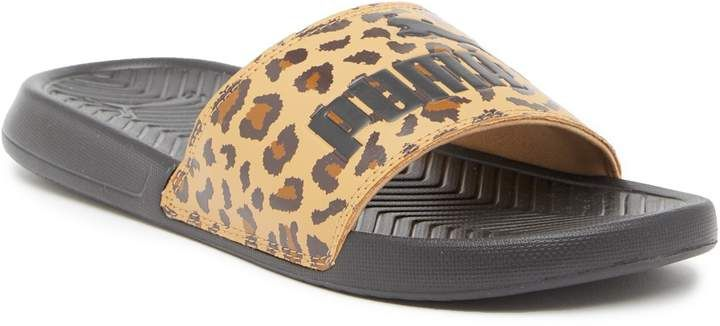 PUMA | Popcat Leopard Printed Slide