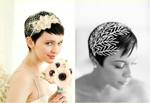 Kurze Haare Hochzeit Hairstyling Haarschmuck Blumen E V D E S A C