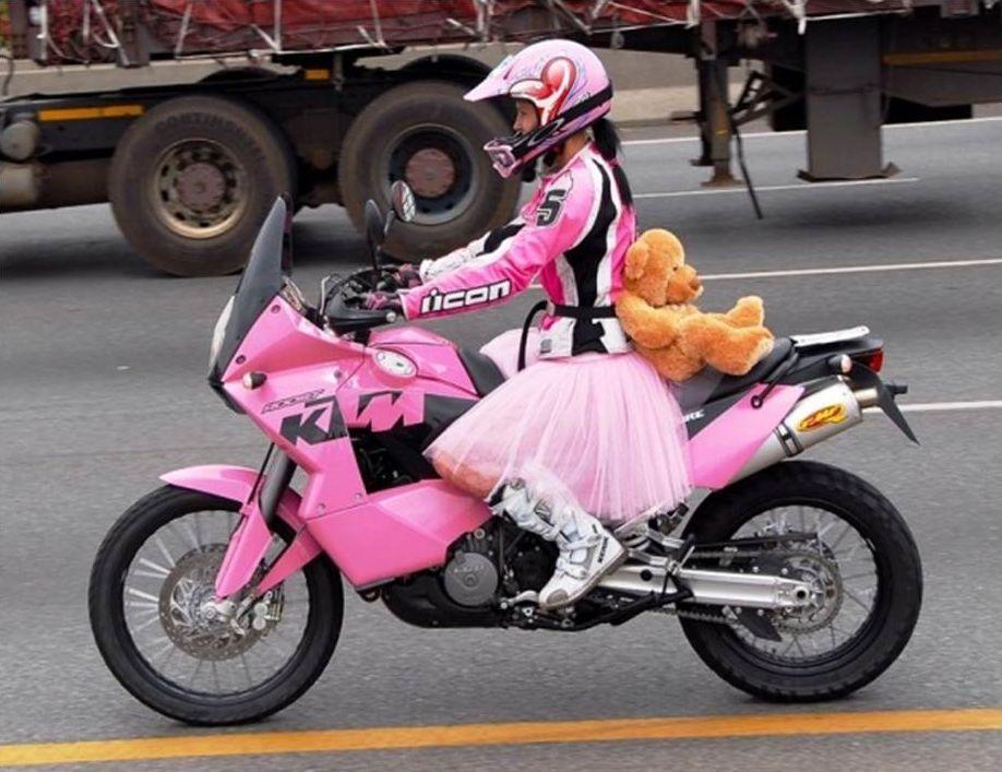 South African Motorcyclist Skinny Van Schalwyck Pink Motorcycle Motorcycle Girl Pink Bike